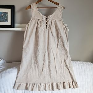 Caroline Morgan Linen Sleeveless Ruffle Dress 14